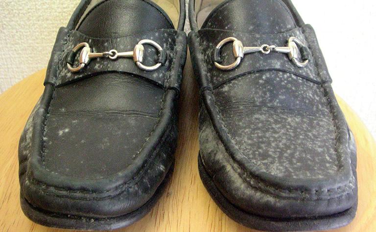靴のカビBefore