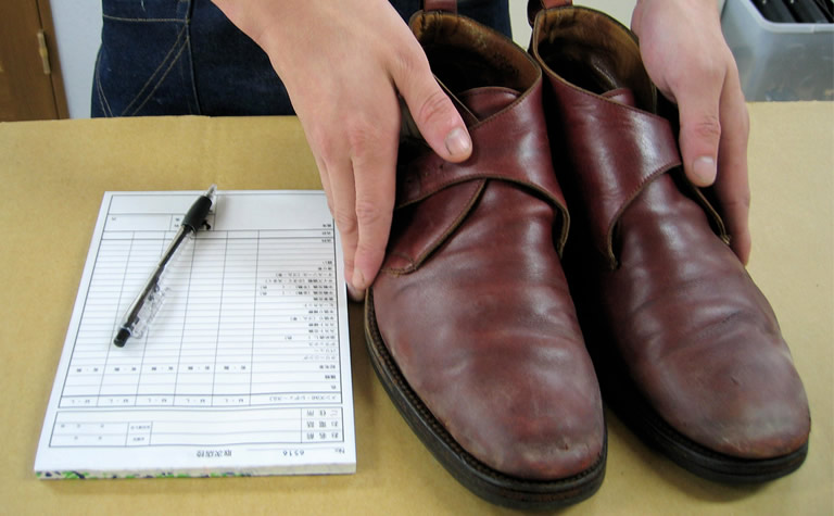 靴修理の作業工程(1)